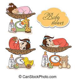 女の赤ん坊, スケール, 重くのしかかる