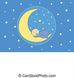 女の赤ん坊, 睡眠の月