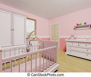 女の赤ん坊, 託児所