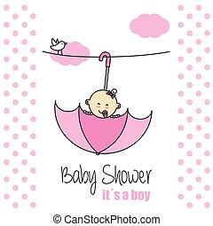 女の赤ん坊, shower., it´s