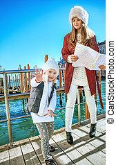 女儿, 威尼斯, 妈妈, 旅游者, 时间, 乐趣, italy, 有