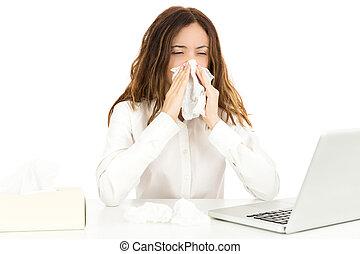 女商人, 由于, 流感