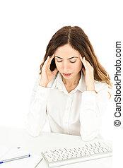 女商人, 由于, 頭疼