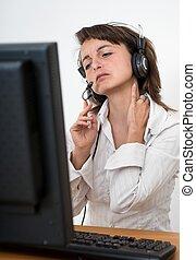 女商人, 由于, 頸項痛苦