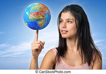 女孩, 以及, 全球