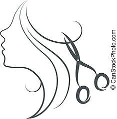 女孩, 以及, 剪刀, 設計