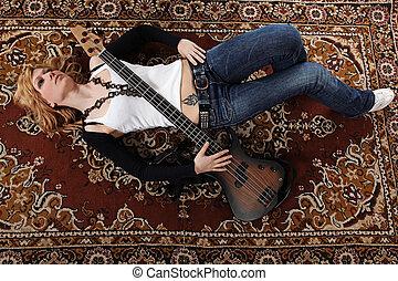 女孩, 以及, 吉他