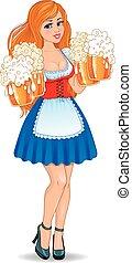 女孩, 啤酒