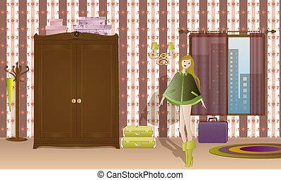 女孩, 寢室