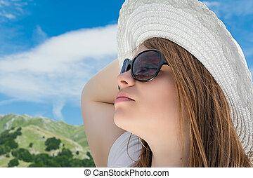 女孩, 帽子, 白膚金發碧眼的人