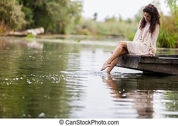 女孩, 湖
