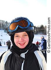 女孩, 滑雪
