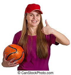 女孩, 由于, 球, 被隔离