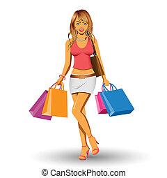 女孩, 购物