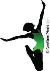 女孩, 跳舞, 芭蕾舞
