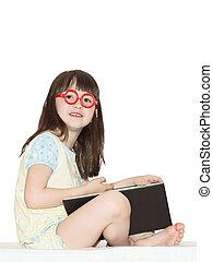 女孩, 閱讀, 書