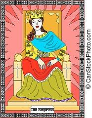女帝, カード