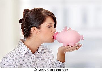 女性の保有物, 銀行, 小豚