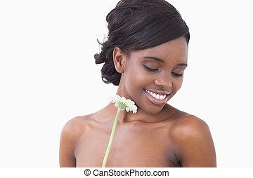 女性の保有物, a, 花