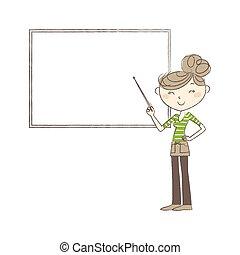 女性の指すこと, ∥において∥, whiteboard