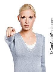 女性の指すこと, 人差し指