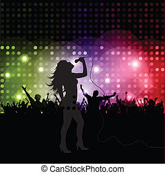 女性の歌手