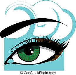 女性の目, イラスト