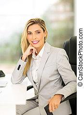 女性の経営者, ビジネスオフィス