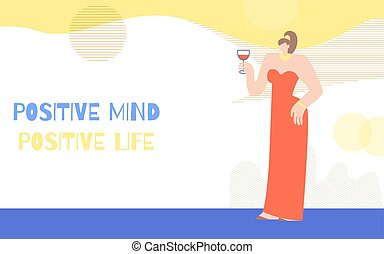 女性の考えること, ポジティブ, 動機を与えなさい, ポスター, 概念