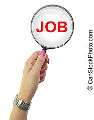 女性の見ること, 失業者, 仕事