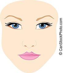 女性の額面