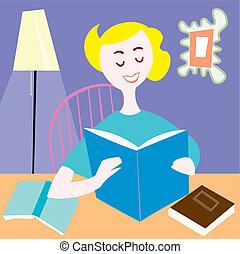 女性の 読書