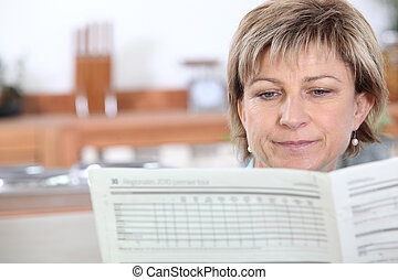 女性の 読書, 新聞