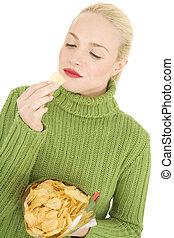 女性の 食べること, ポテトチップ