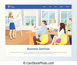 女性ビジネス, オフィス, 寄付, プレゼンテーション, セミナー