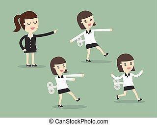 女性ビジネス, 機械