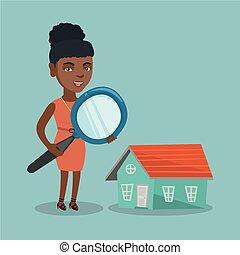 女性ビジネス, house., 若い見ること, アフリカ