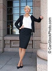 女性実業家, によって, 建物