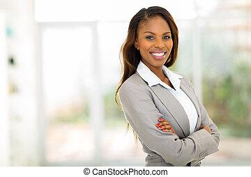 女性実業家, アメリカ人, 若い, オフィス, アフリカ