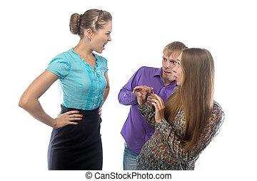 女性実業家, イメージ, 怒る
