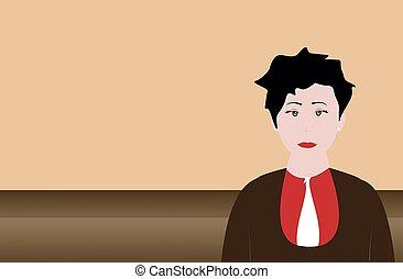 女性実業家, イラスト