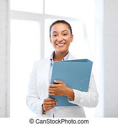 女性実業家, オフィス, アフリカ