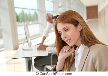 女性実業家, オフィス, 肖像画