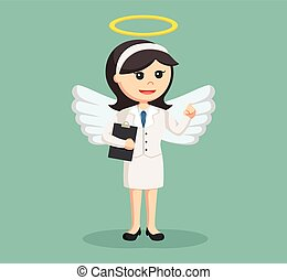 女性実業家, クリップボード, 天使