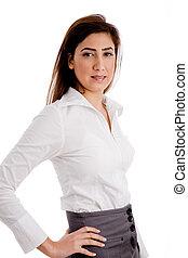 女性実業家, サイド光景