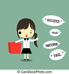 女性実業家, チャンス, 取得, 成功
