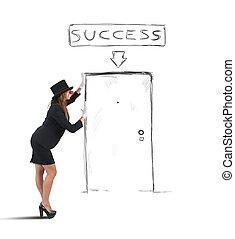 女性実業家, パントマイム, 成功