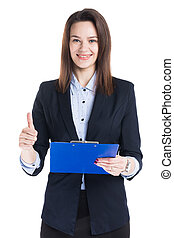 女性実業家, フォルダー, 保有物