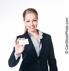 女性実業家, ブランク, 保有物, 空, 印