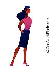 女性実業家, ベクトル, illustration.